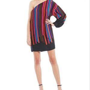 NWT TrinaTurk Pina Colada OneShoulder Stripe Dress